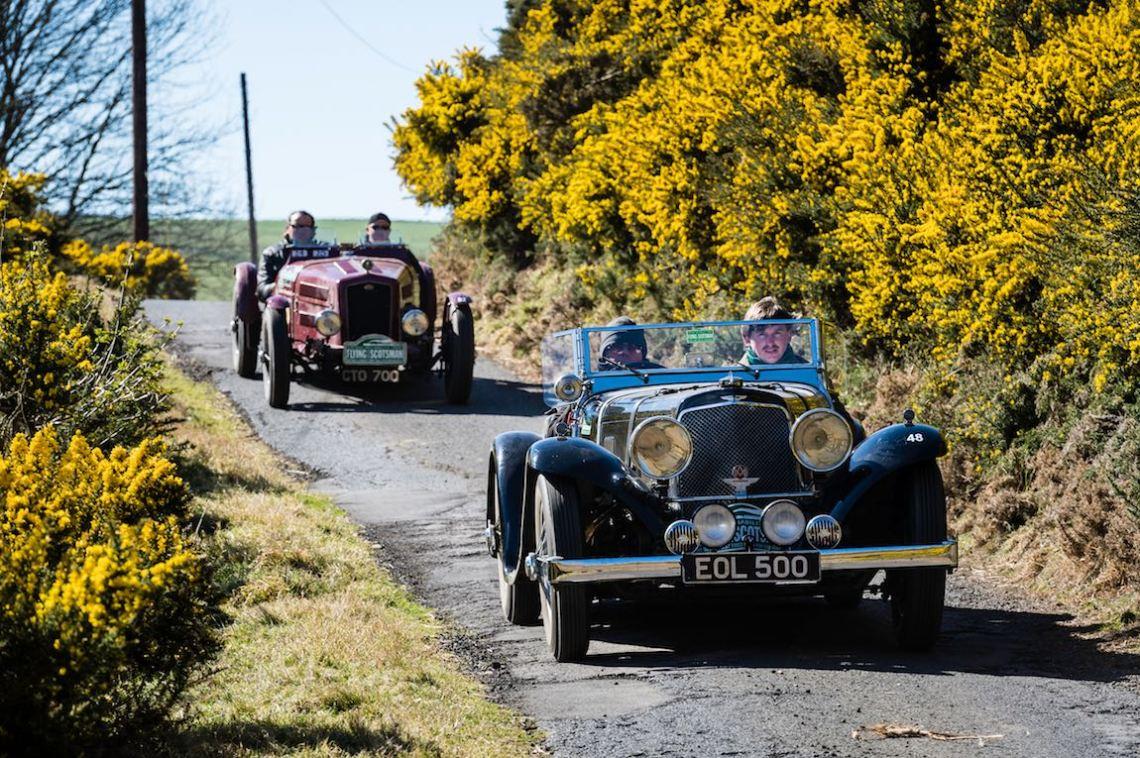 1936 Aston Martin 15/98 Sports and 1936 Triumph Gloria Special