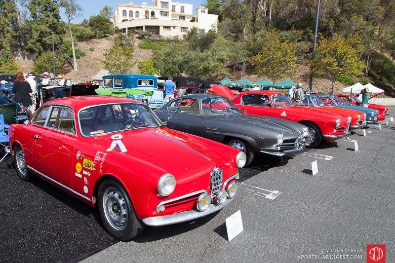 A sea of Alfa Romeos at Greystone Mansion Concours d'Elegance 2016