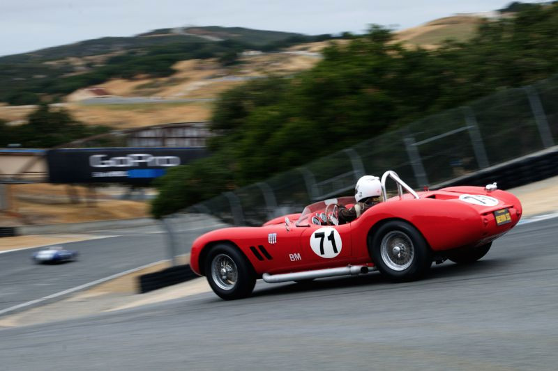 Greg Meyer's in his 1958 Devin SS Chevrolet in The Corkscrew.