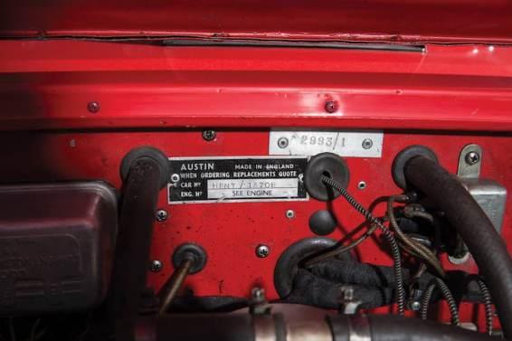1961 Austin-Healey 3000 Mk I Works Chassis Tag