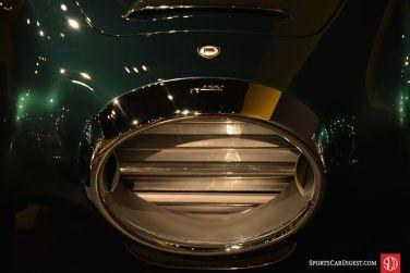The unique radiator grill of the 1952 Lancia B52 Aurelia PF200 Spider