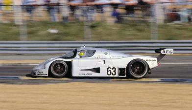 24 Hours of Le Mans, 10/11 June 1989. Sauber-Mercedes Group C racing car C 9. Start number 63 – winners: Jochen Mass / Manuel Reuter / Stanley Dickens