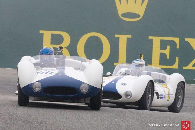 Dyke Ridgley - 1960 Maserati Tipo 61 leads Jonathan Feiber - 1960 Maserati Tipo 61