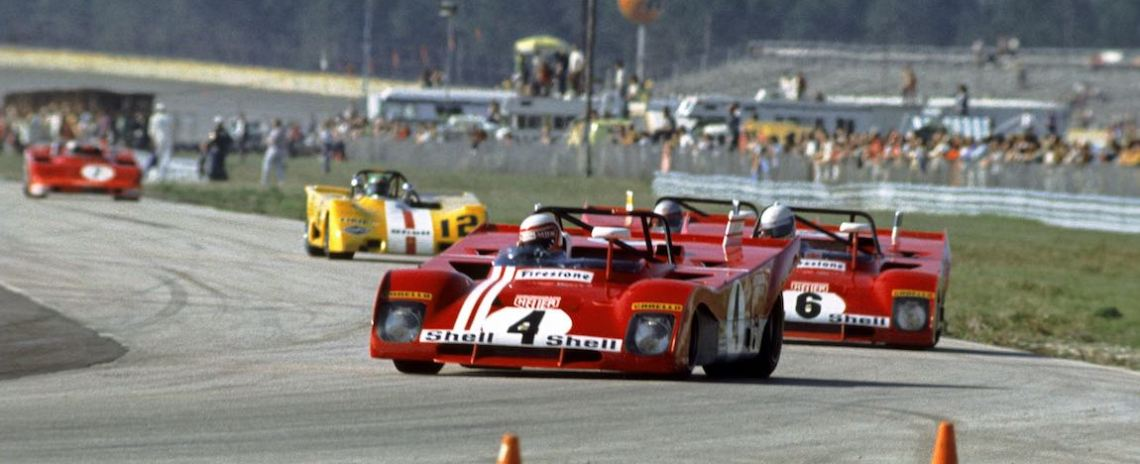 Ferrari 312 PB driven by Clay Regazzoni and Brian Redman finished 4th at the 1972 Daytona 6-Hours (photo: Autosports Marketing Assoc.)