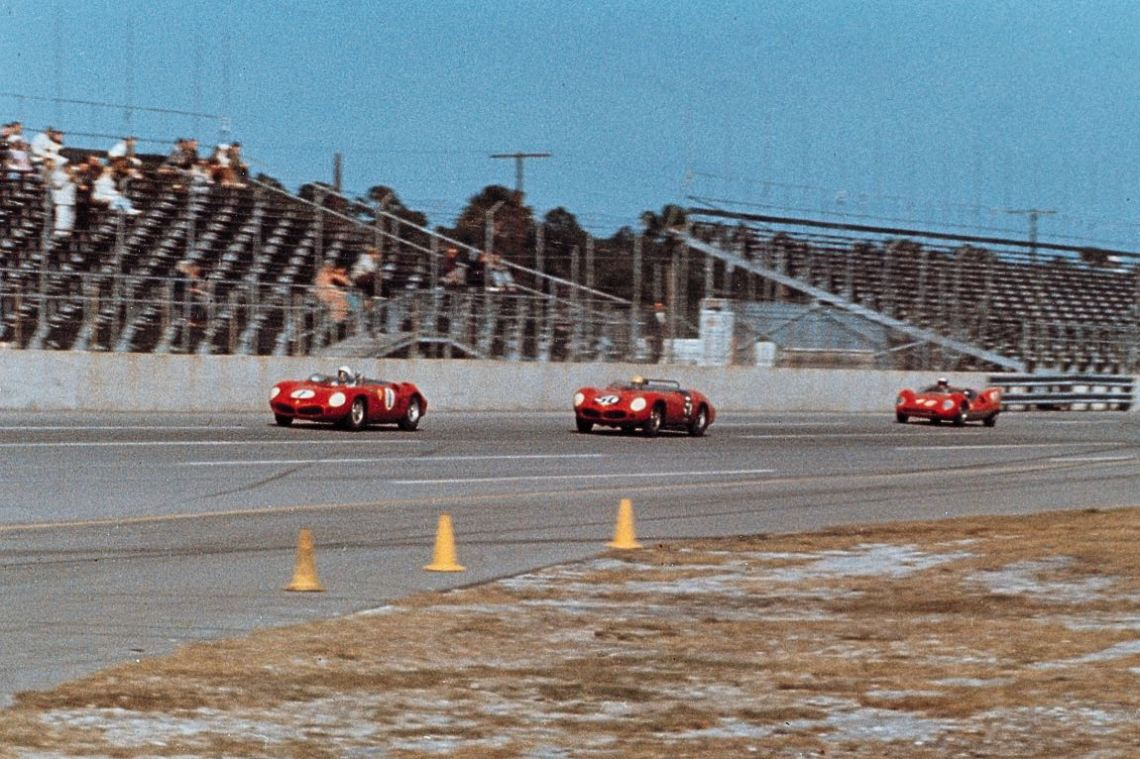 Ferrari Dino 246 SP of Phil Hill and Ricardo Rodriguez Ferrari 250 TRI/61 of Ricardo Rodriguez and Peter Ryan (photo: Ferrari)