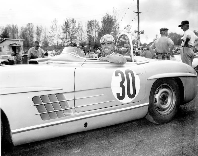 Open for victories: In 1957, Paul O'Shea driving the Mercedes-Benz 300 SLS won the US Sports Car Championship for the third time
