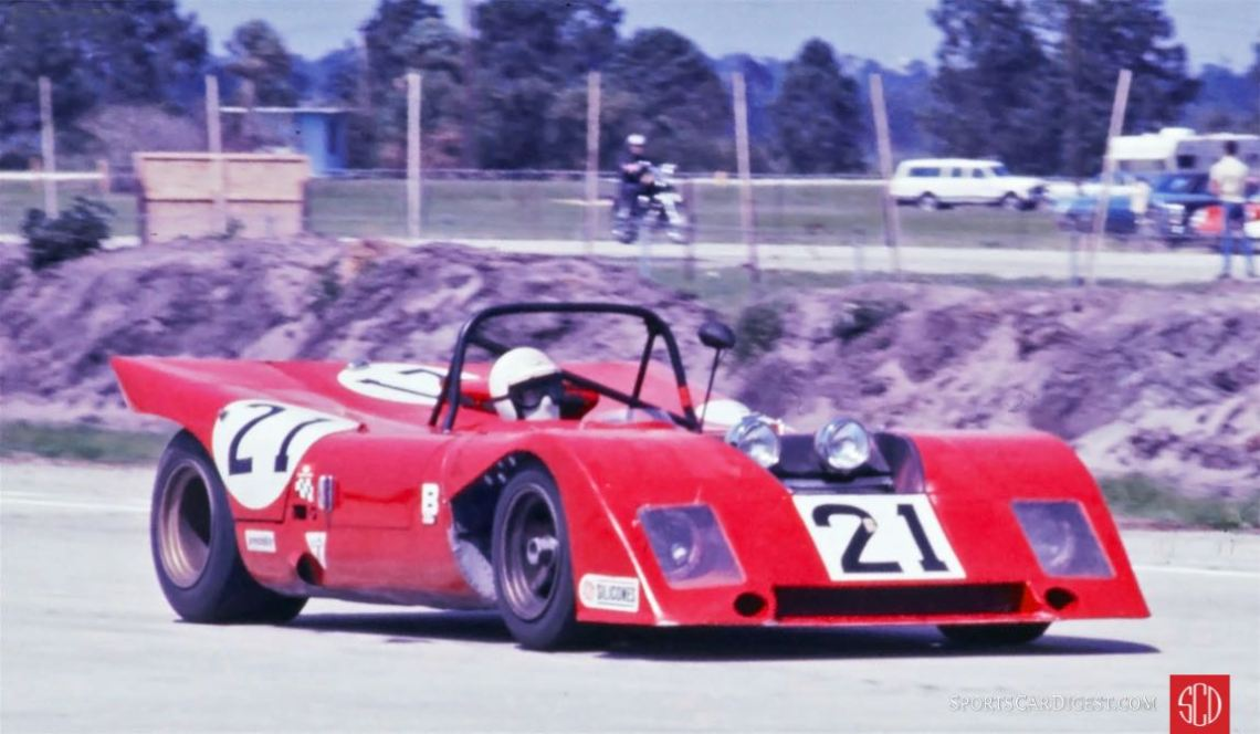 George Eaton at the wheel of the NART Ferrari 312P/71 (Photo: Ken Breslauer)