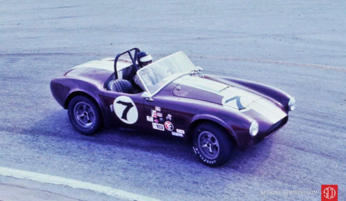 The Shelby Cobra of Mike Rand and Randy Blessing going through the Hairpin (Photo: Ken Breslauer)