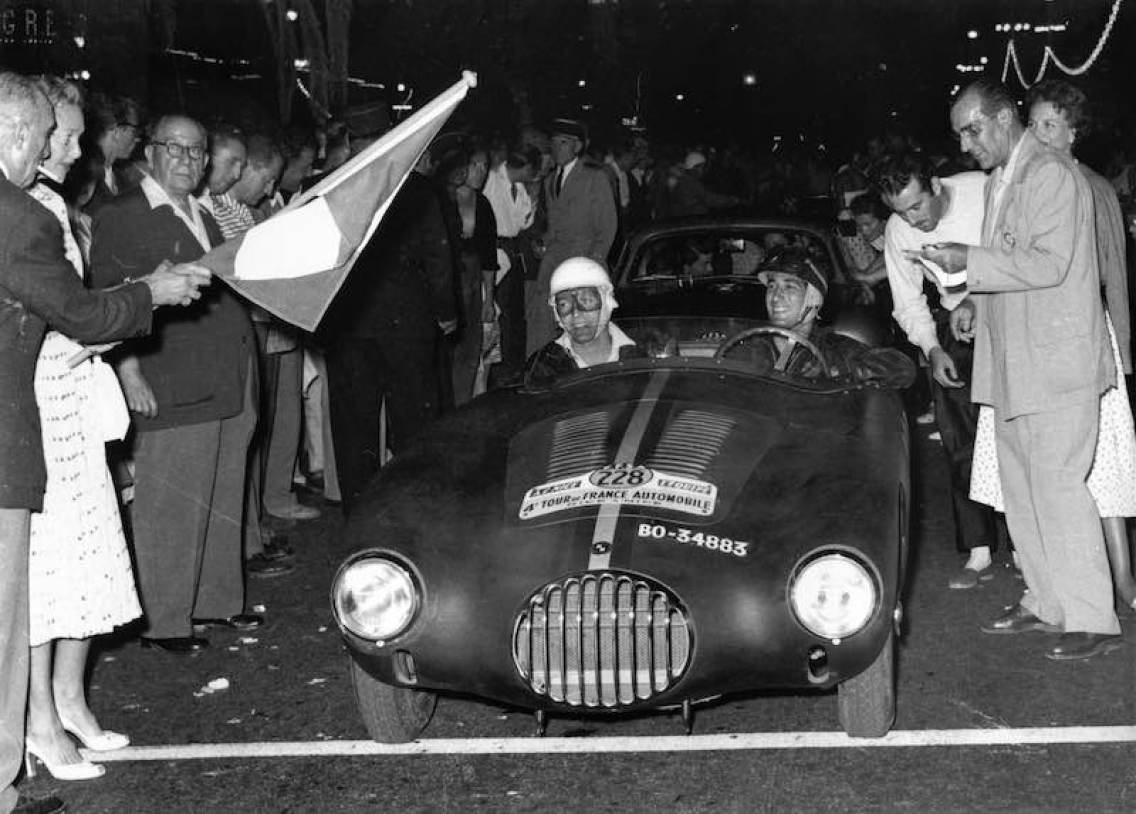 Alfonso de Portago in the Osca MT4 1500 at the 1954 Tour de France (Archives Maurice Louche)