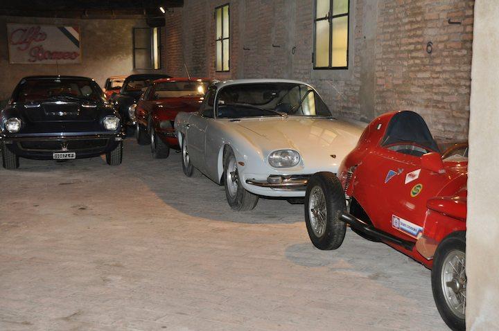Maserati Mistral, Ferrari 365 GTB/4 Daytona, Lamborghini 350 GT and Stanguellini Formula Junior Race Car