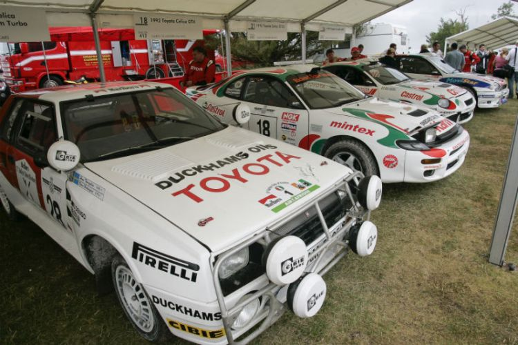Forest Rally Stage Paddock