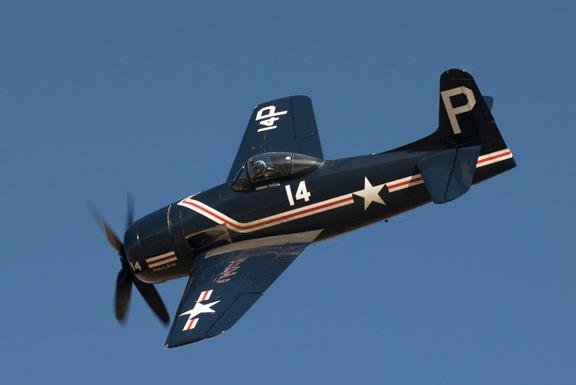 Howard Pardue in his Bearcat F8F-1