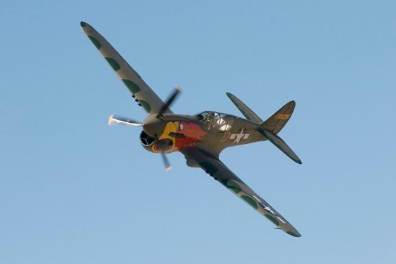 John-Curtiss Paul in the P40-N Parrothead