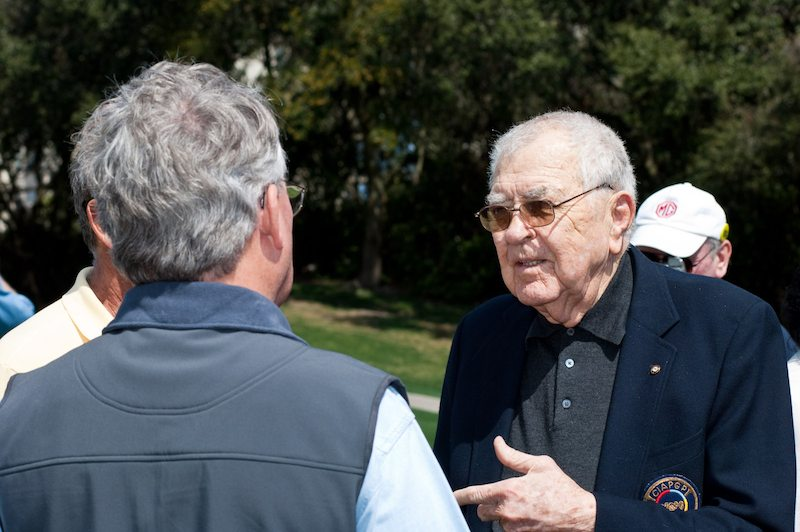 Carroll Shelby on Amelia Concours show field