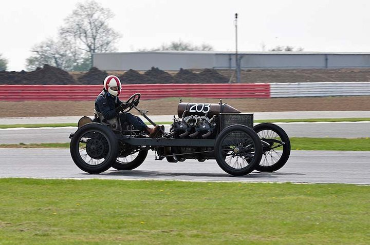 1905 Darracq 200HP driven by Mark Walker
