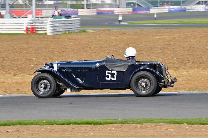 Silverstone Trophy winner Dudley Sterry in his 1937 HRS 2 STR Sports