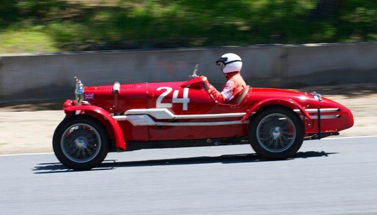 Pete Thelander in his 1934 MG NE.