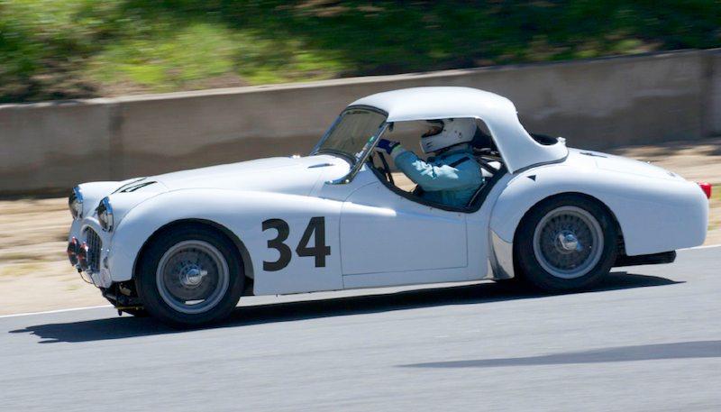 Michael Paradise in his 1956 Triumph TR3.