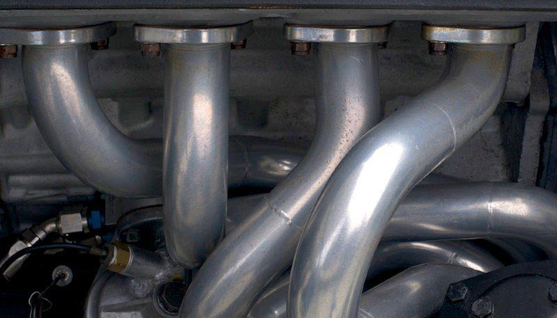 Headers on an Alfa Romeo GTV.