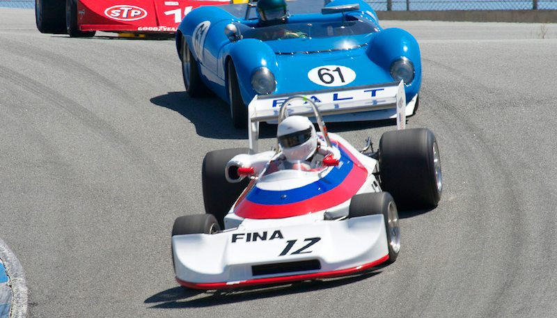 Todd Smathers goes down the Corkscrew in his Ralt RT-1.