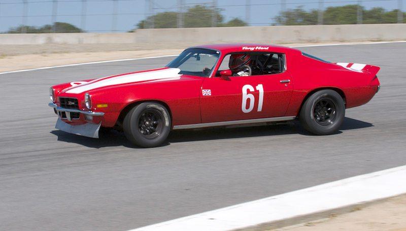Top of the hill - Tony Hart's 1970 Chevrolet Camaro.