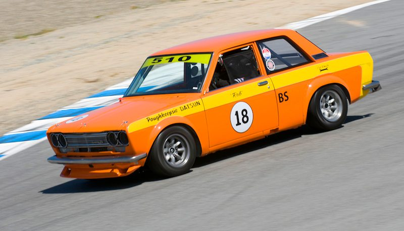 Ken Mattice's Datsun 510 was well-received by the HMSA tech crew, who like the overall originality of this car.
