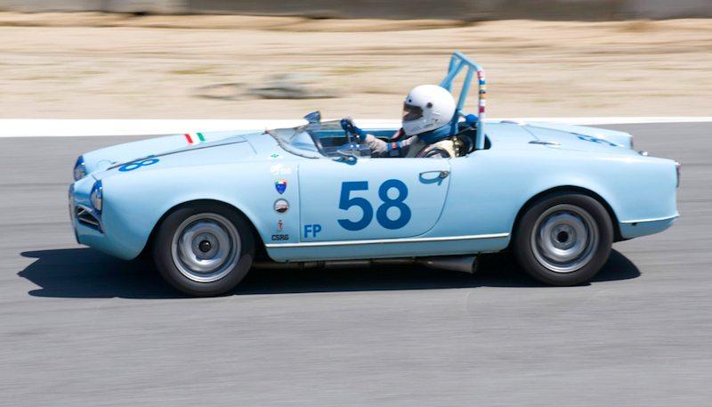 Sid Gage's 1957 Alfa Romeo Giulietta Spyder.