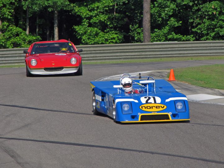 Chevron B23 - Nick Incantalupo and Lotus Europa 47 - Jim Roberts