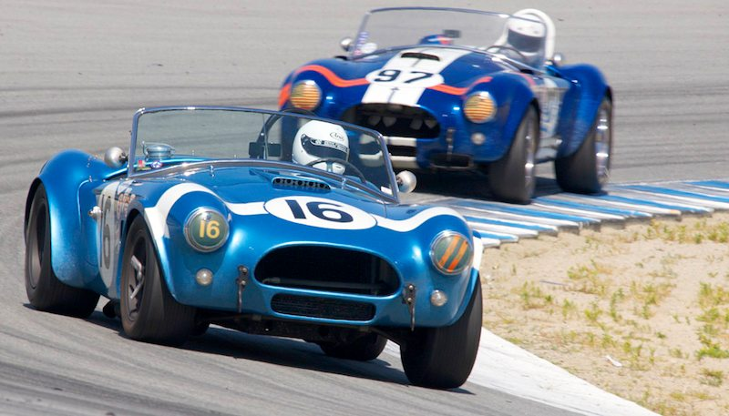 Lynn Park's 1964 Cobra leads the 1962 Cobra of Steve Park