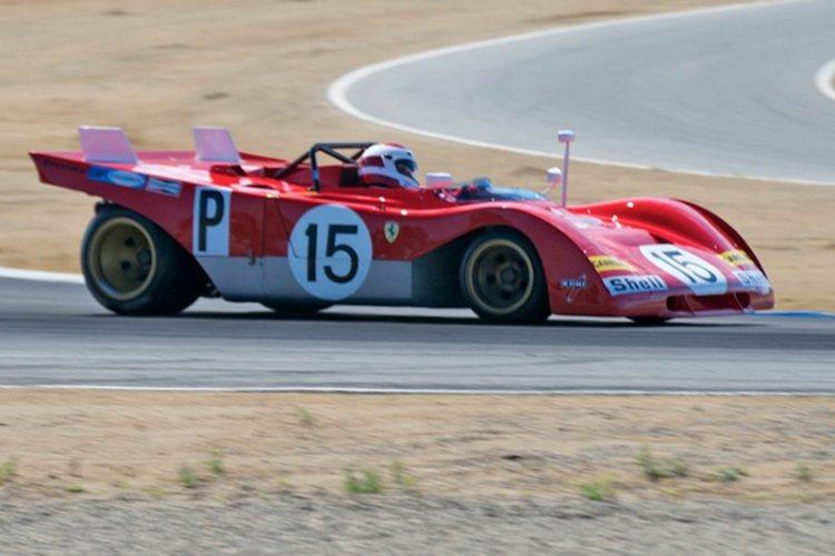 Turn 2 Ernie Prisbe's 1971 Ferrari 312PB.