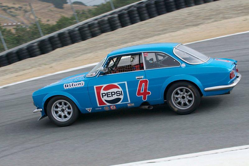 Zide Shelly in his 1971 Alfa Romeo GTV.