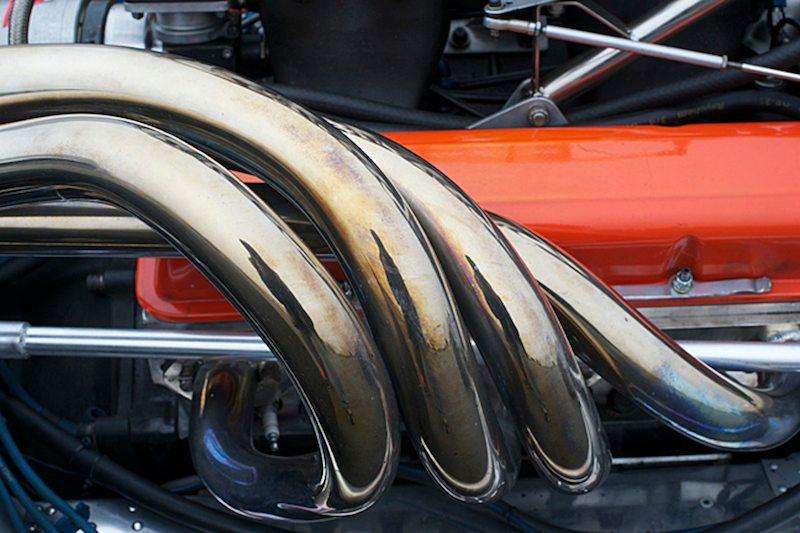 Hot headers on the Eagle MK5 F5000.