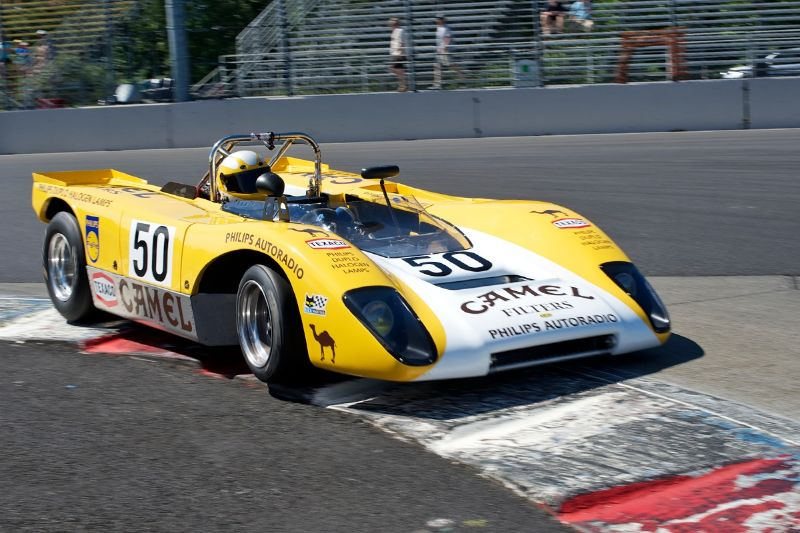 1971 Lola T212 driven by Scott Emerson in turn 1.