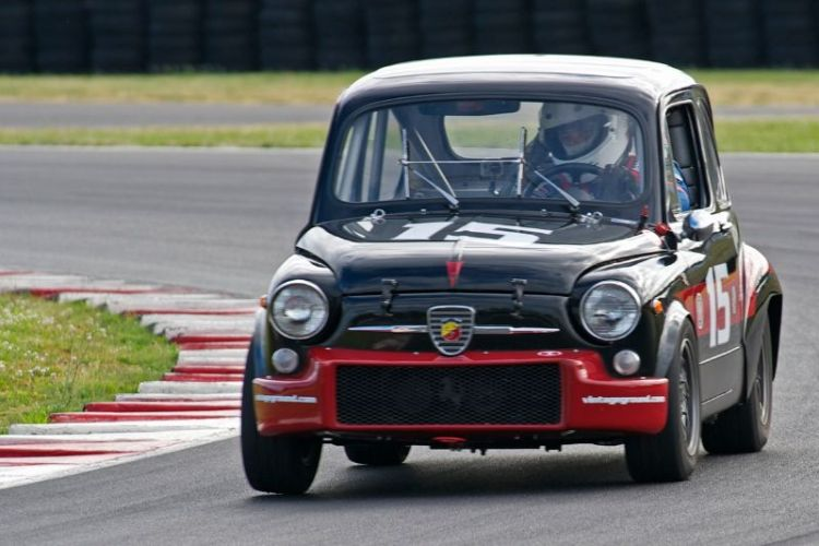 Joseph Potter in his 1965 Fiat Abarth 1050cc.
