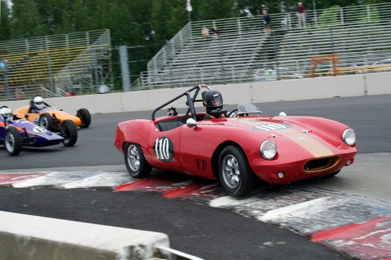 Sue Quackenbush in her Elva Courier Mk 11.