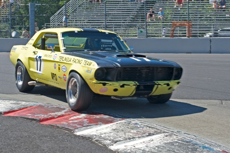 Michael Smith's 1967 Ford Mustang in turn 1.