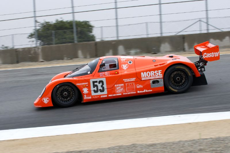Jimmy Castle Jr. in his 1989 Porsche 962C.