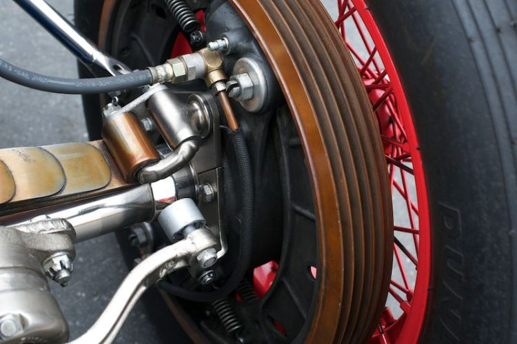 Rear suspension on the 1938 Sparks Thorne Indy Special.