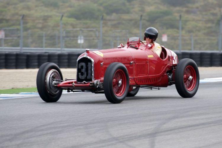 Peter Giddings in his 1930  Alfa Romeo Tipo B P3.