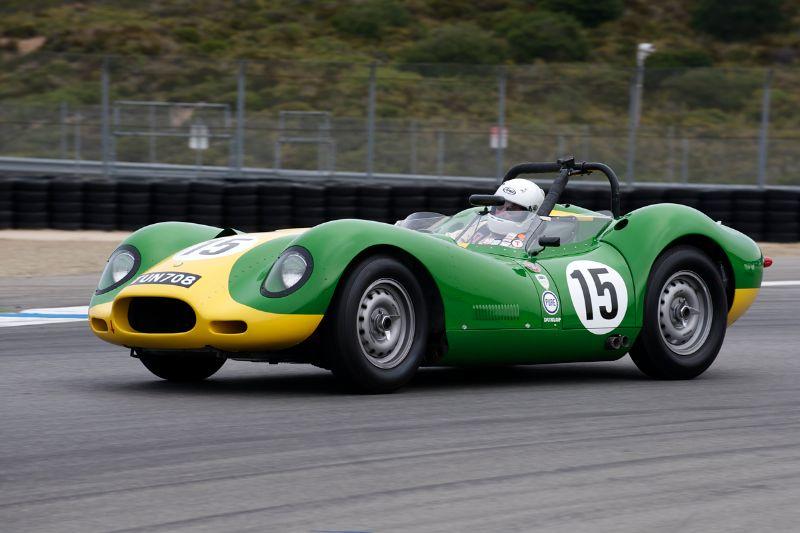 1957 Lister Knobbly Jaguar driven by Brent Blackman.