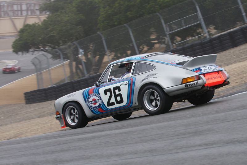 Brad Hook in his 1973 Porsche RSR 3.0 Prototype.