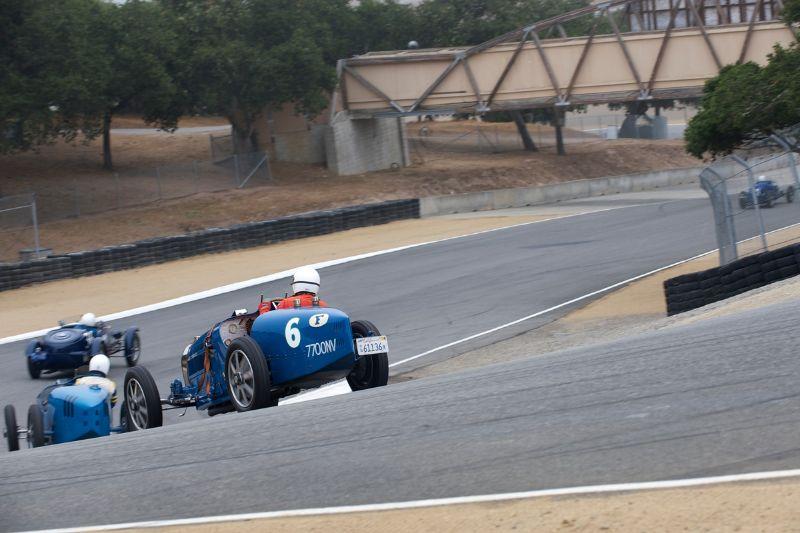 Close racing in Group 4A Bugatti GP.