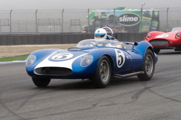 Morton's 1958 Scarab accelerates out of turn eleven.