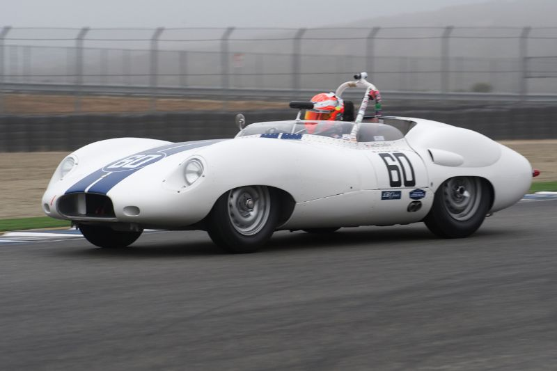 Alex Buncombe's 1959 Lister Costin Jaguar finished first in Group 3A.