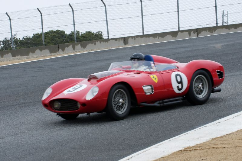 Down the Corkscrew, Bruce McCaw in his 1959 Ferrari TR-59.