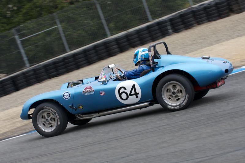 Bob Hardison takes his 1958 Echidna into turn 8A.