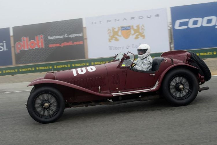 Shawn Thomas in a 1932 Alfa Romeo 8C 2300MM.