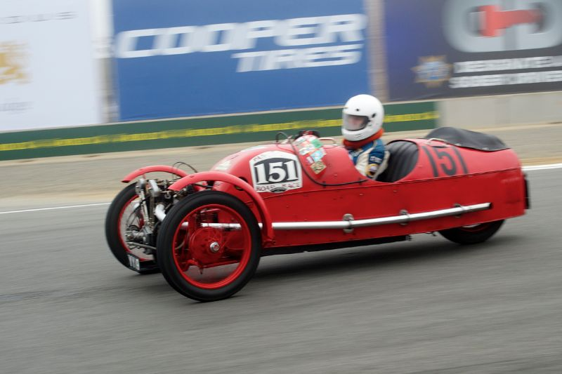 Larry Ayers in his 1930 Morgan.
