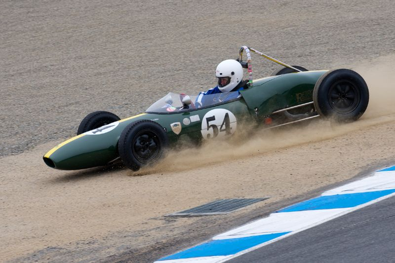 Phil Trennholme in his 1962 Lotus 22.