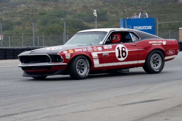 Vic Edlebrock in his 69 Ford Boss 302 Mustang.